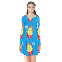 Easter Chick Flare Dress