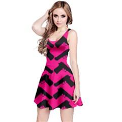 Pink Gun Reversible Sleeveless Dress