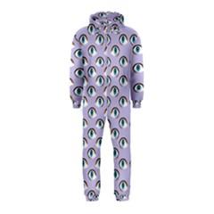 Purple Eyeballs Hooded Jumpsuit (Kids)