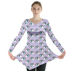 Purple Eyeballs Long Sleeve Tunic