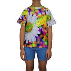 Happy Birthday Kids  Short Sleeve Swimwear