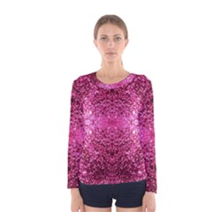 Pink Glitter Women s Long Sleeve Tee