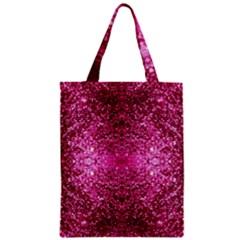 Pink Glitter Zipper Classic Tote Bag