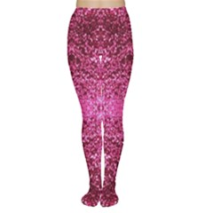 Pink Glitter Women s Tights