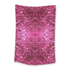 Pink Glitter Small Tapestry