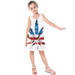 Marijuana Kids  Sleeveless Dress