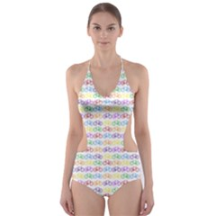 Bicycles Cut-Out One Piece Swimsuit