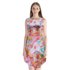 Birthday Cake Sleeveless Chiffon Dress