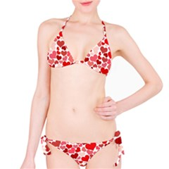 Red Hearts Bikini Set