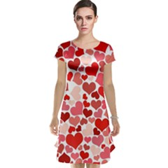 Red Hearts Cap Sleeve Nightdress