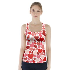 Red Hearts Racer Back Sports Top