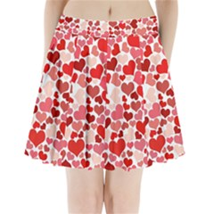 Red Hearts Pleated Mini Skirt