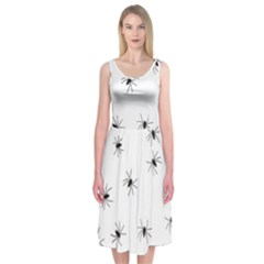 Spiders Midi Sleeveless Dress