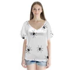 Spiders Flutter Sleeve Top