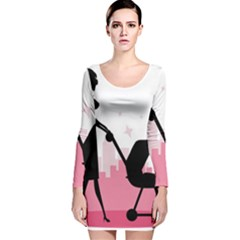 Milf Long Sleeve Velvet Bodycon Dress
