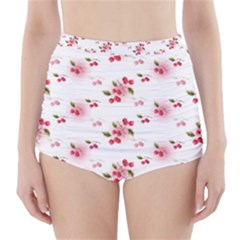 Vintage Cherry High-Waisted Bikini Bottoms