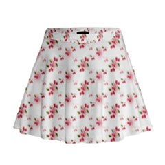 Vintage Cherry Mini Flare Skirt