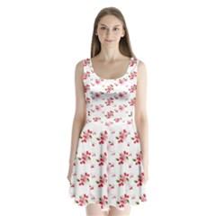 Vintage Cherry Split Back Mini Dress