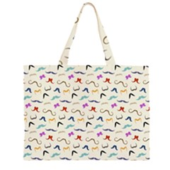 Mustaches Large Tote Bag