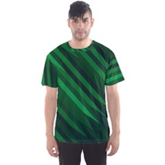 Abstract Blue Stripe Pattern Background Men s Sport Mesh Tee