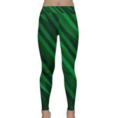 Abstract Blue Stripe Pattern Background Classic Yoga Leggings
