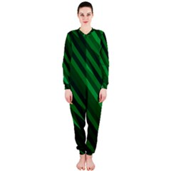 Abstract Blue Stripe Pattern Background OnePiece Jumpsuit (Ladies)