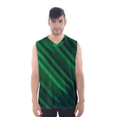 Abstract Blue Stripe Pattern Background Men s Basketball Tank Top