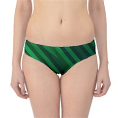 Abstract Blue Stripe Pattern Background Hipster Bikini Bottoms