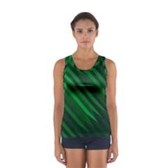 Abstract Blue Stripe Pattern Background Women s Sport Tank Top