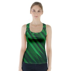 Abstract Blue Stripe Pattern Background Racer Back Sports Top