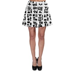 Anchor Puzzle Booklet Pages All Black Skater Skirt