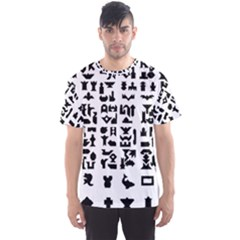 Anchor Puzzle Booklet Pages All Black Men s Sport Mesh Tee