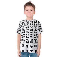 Anchor Puzzle Booklet Pages All Black Kids  Cotton Tee