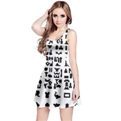 Anchor Puzzle Booklet Pages All Black Reversible Sleeveless Dress