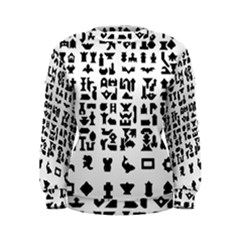 Anchor Puzzle Booklet Pages All Black Women s Sweatshirt