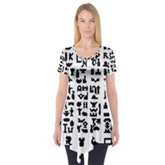 Anchor Puzzle Booklet Pages All Black Short Sleeve Tunic