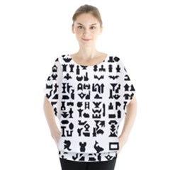 Anchor Puzzle Booklet Pages All Black Blouse