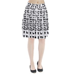 Anchor Puzzle Booklet Pages All Black Pleated Skirt