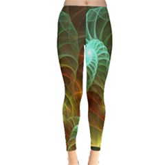 Art Shell Spirals Texture Leggings
