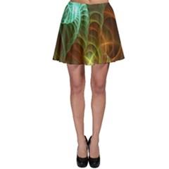 Art Shell Spirals Texture Skater Skirt