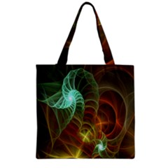 Art Shell Spirals Texture Grocery Tote Bag