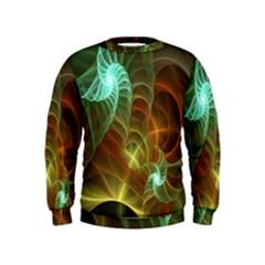Art Shell Spirals Texture Kids  Sweatshirt