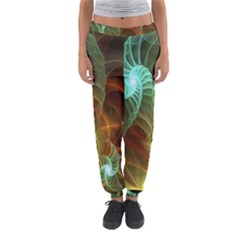 Art Shell Spirals Texture Women s Jogger Sweatpants