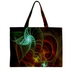 Art Shell Spirals Texture Zipper Mini Tote Bag