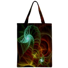 Art Shell Spirals Texture Zipper Classic Tote Bag