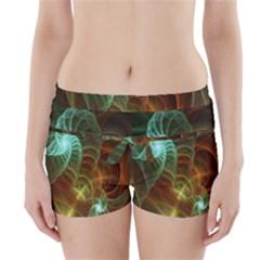 Art Shell Spirals Texture Boyleg Bikini Wrap Bottoms