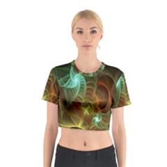 Art Shell Spirals Texture Cotton Crop Top