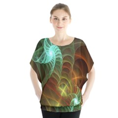 Art Shell Spirals Texture Blouse