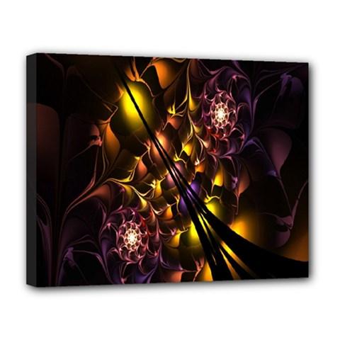 Art Design Image Oily Spirals Texture Canvas 14  x 11