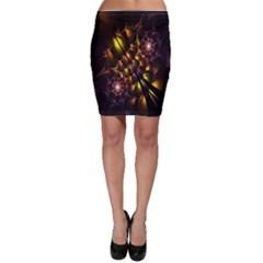 Art Design Image Oily Spirals Texture Bodycon Skirt